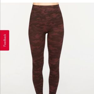 Spanx look at me now leggings red camo